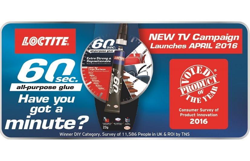 Loctite 60 Sec. has been voted DIY Product of the Year 2016
