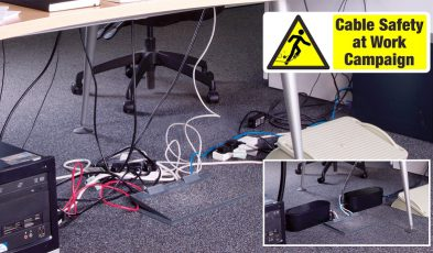 Being safe with cables is important at work