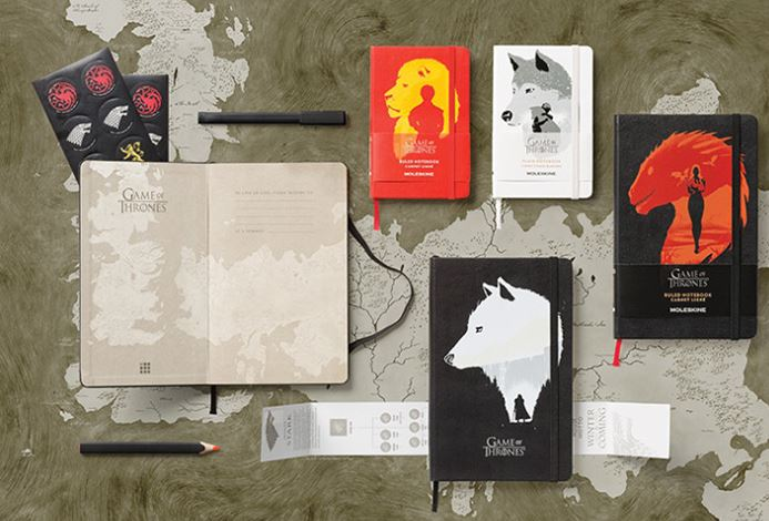 Limited edition Game of Thrones Moleskine notebooks