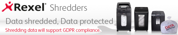 Support GDPR compliance with Rexel shredders